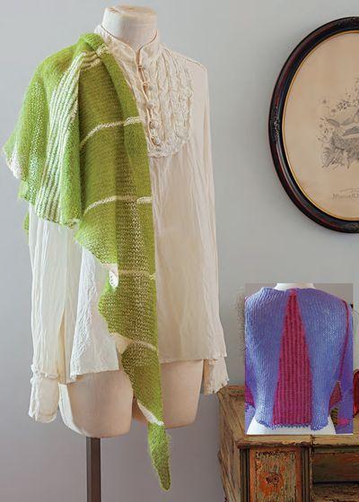 Will-o'th-Wisp shawl